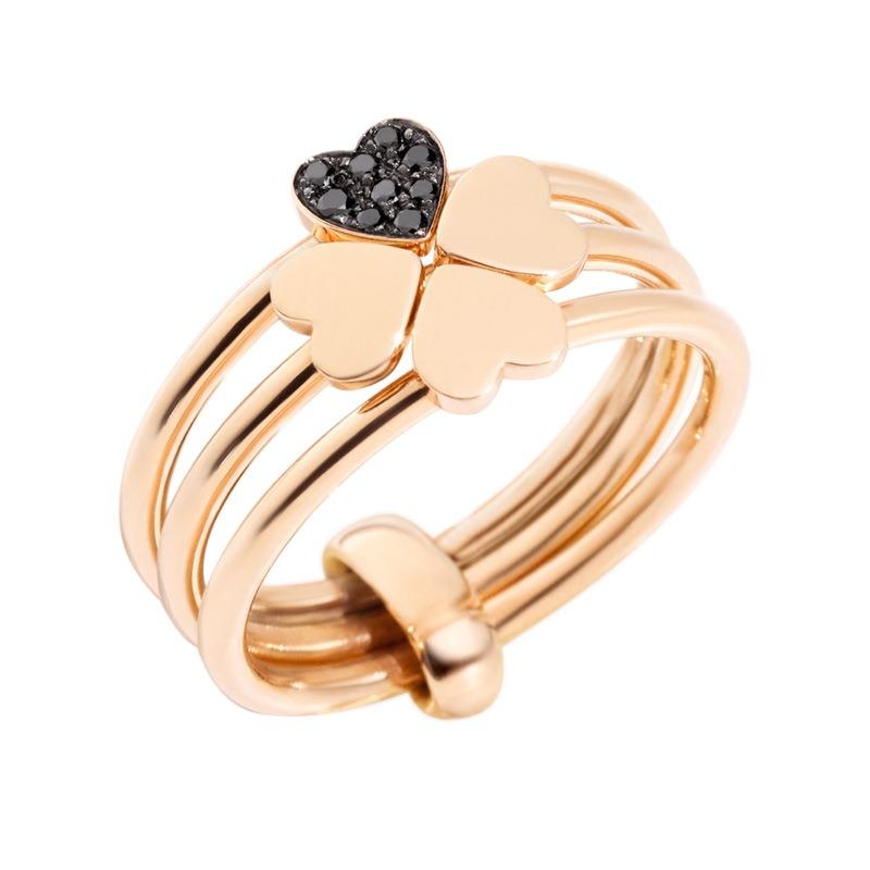 Anello Lucky In Love con diamanti black - Dodo