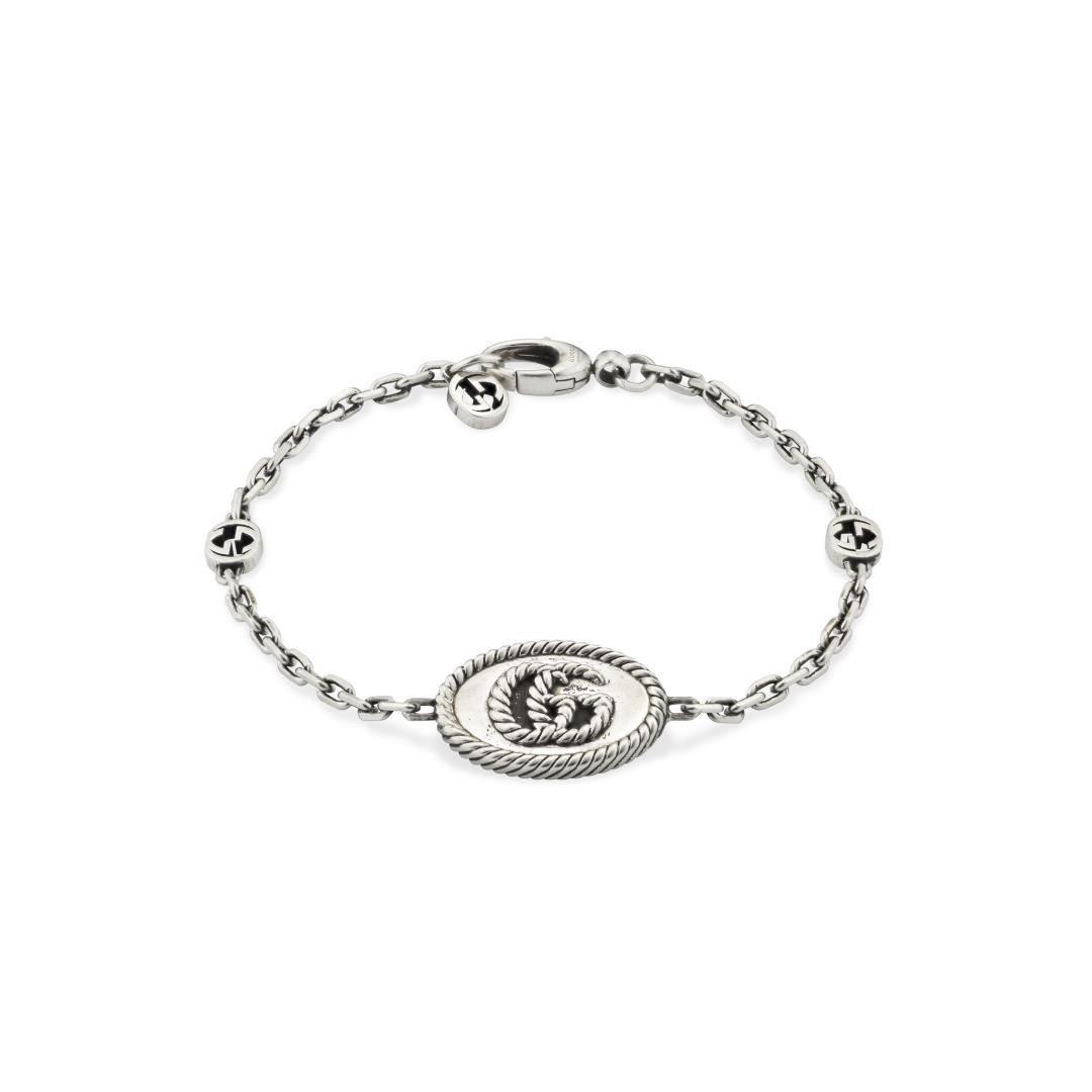 Bracciale Gucci Marmont in Argento con Logo Doppia G