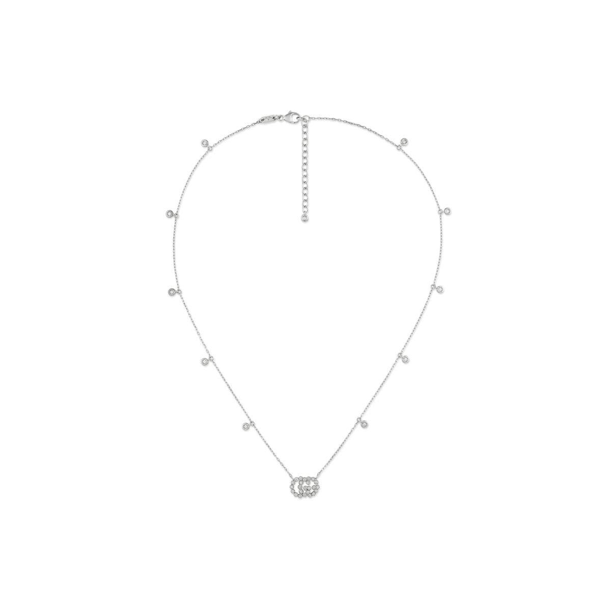 Collana GG Running 18 carati con diamanti