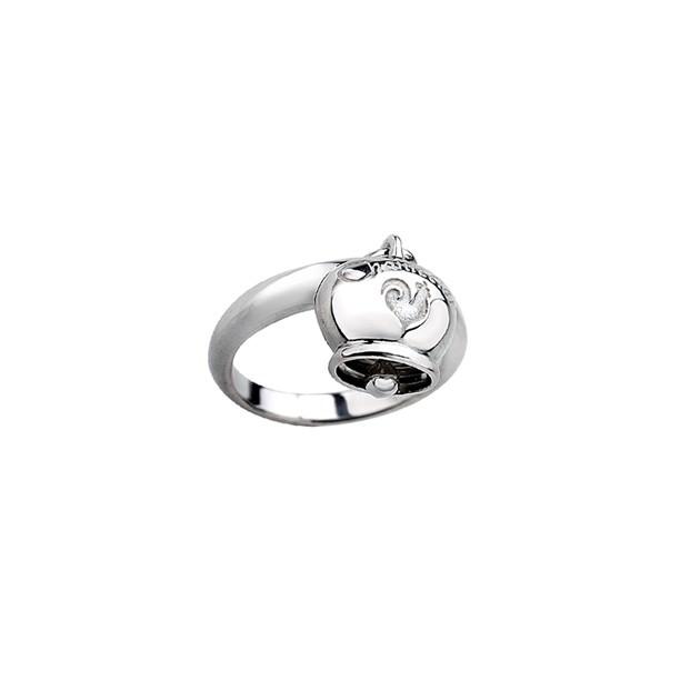 Anello con una Campanella in argento