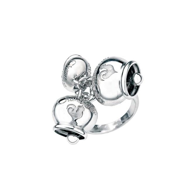 Anello con tre Campanelle in argento