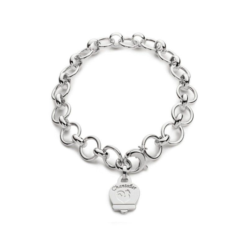 Bracciale multicharms in argento lucido
