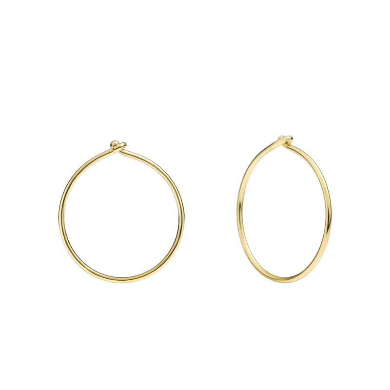 Orecchini a cerchio piccoli in oro giallo - Dodo